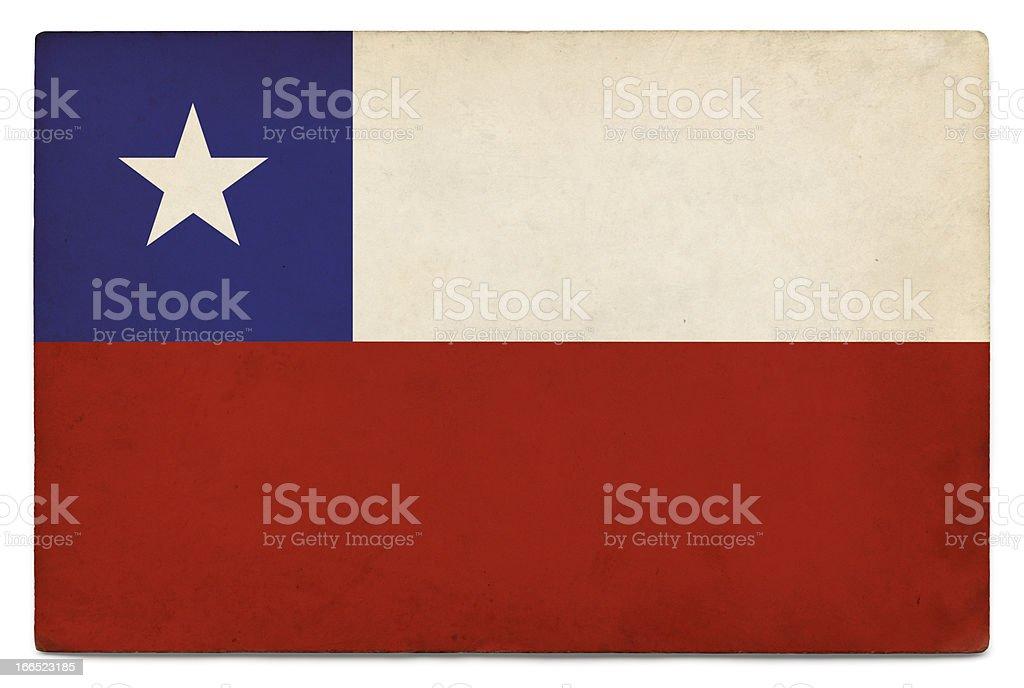 Grunge flag of Chile on white royalty-free stock photo