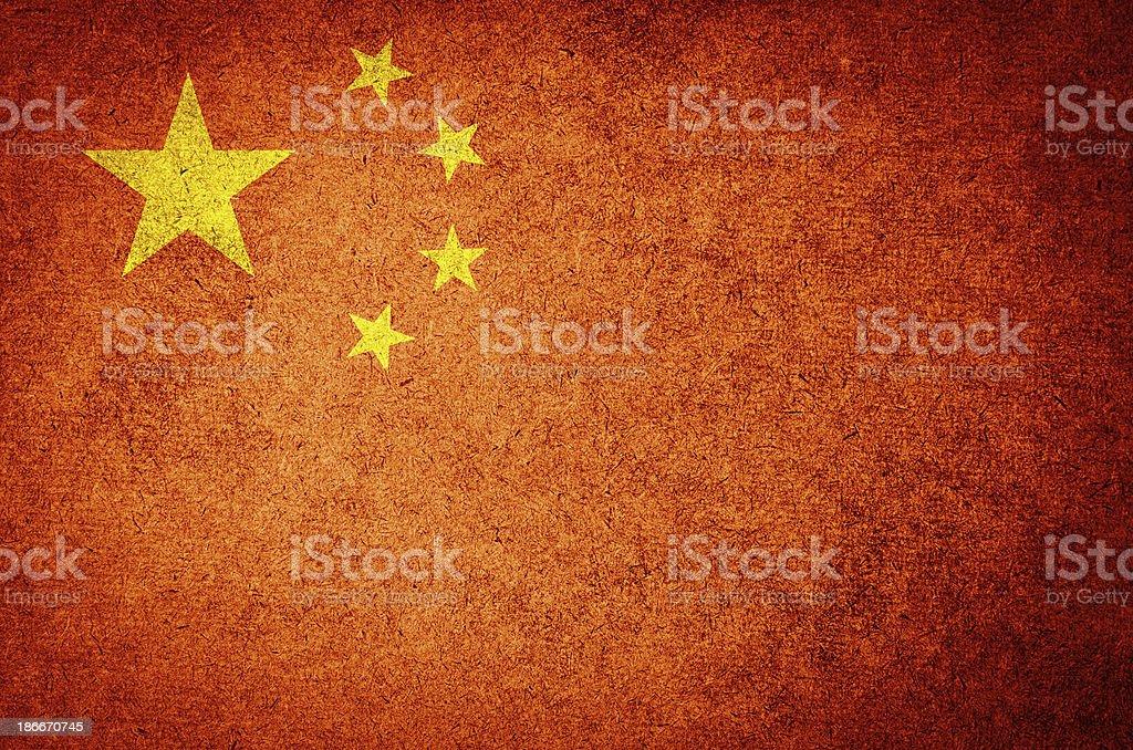 Grunge Flag of China royalty-free stock photo