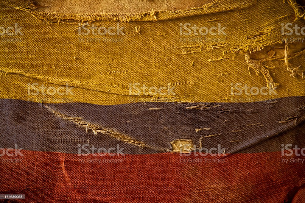 Grunge Flag of Colombia royalty-free stock photo