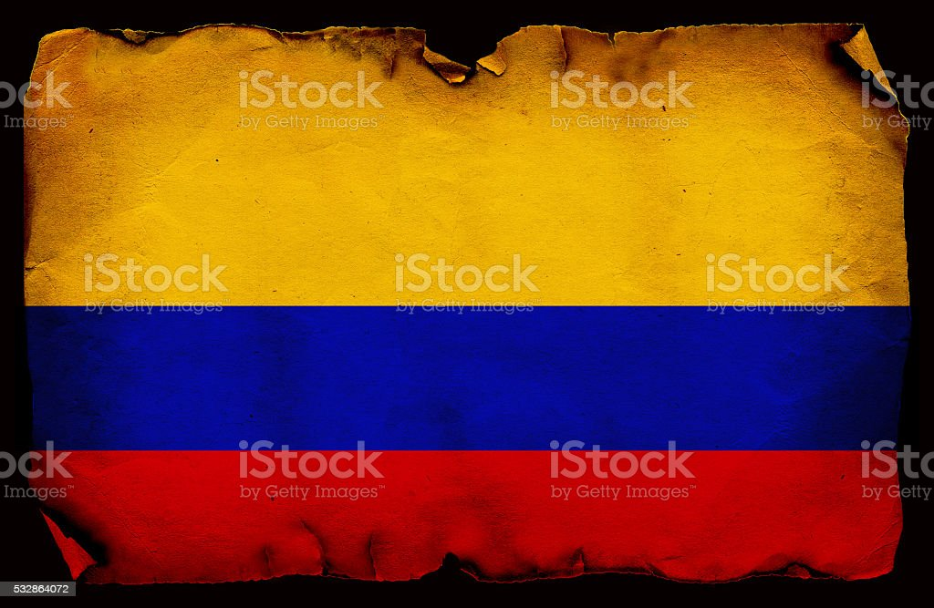 Grunge Flag of Colombia stock photo