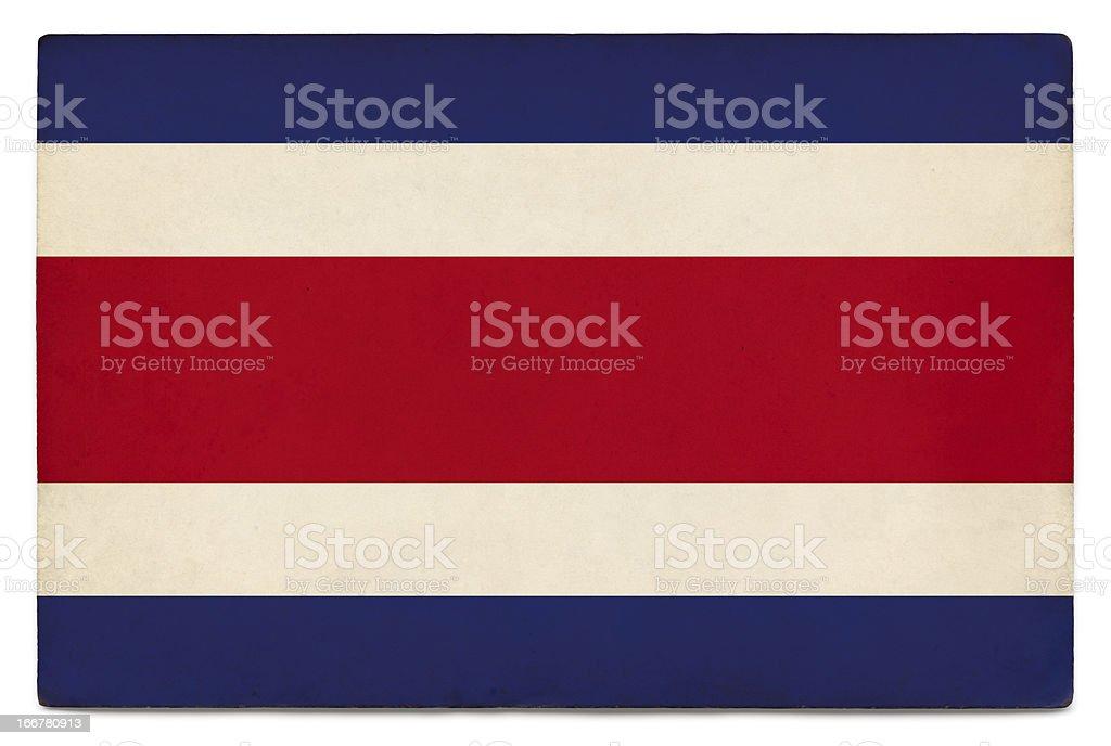 Grunge flag of Costa Rica on white stock photo
