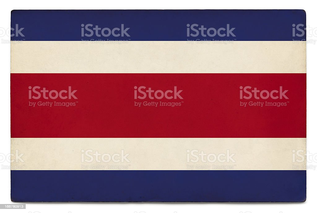 Grunge flag of Costa Rica on white stock photo