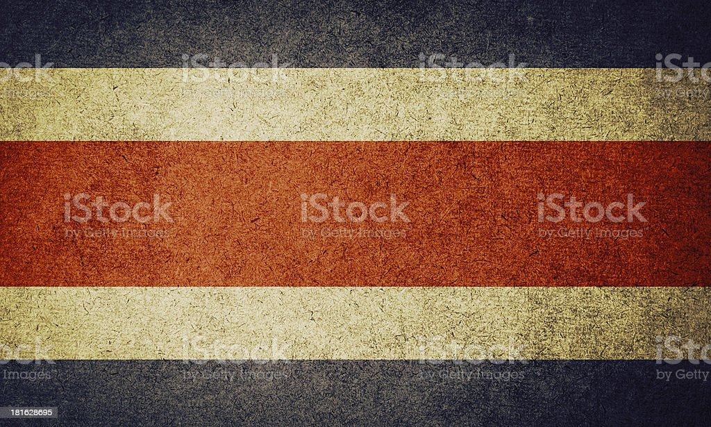 Grunge Flag of costa rica stock photo