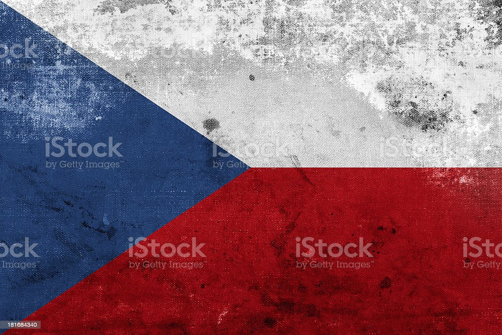 Grunge Flag of Czech Republic royalty-free stock photo
