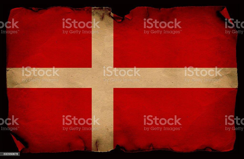 Grunge flag of Denmark stock photo