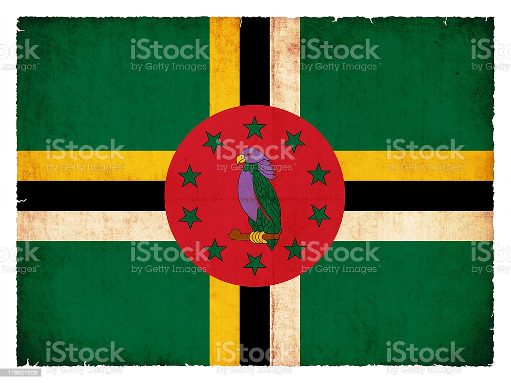 Grunge flag of Dominica royalty-free stock photo