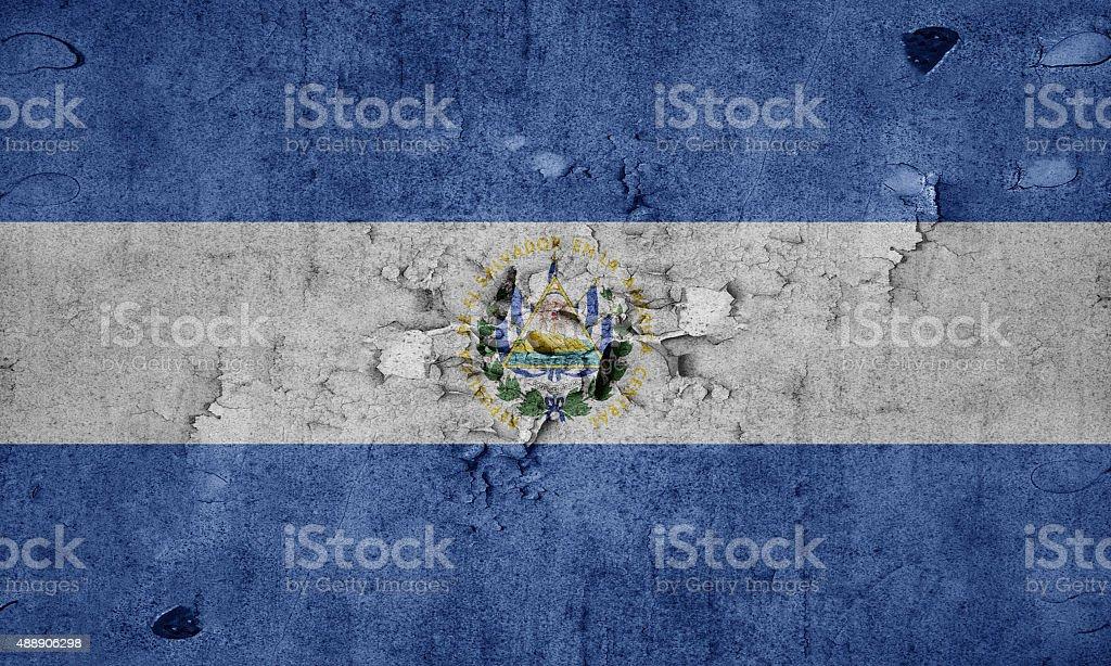 Grunge flag of El Salvador stock photo