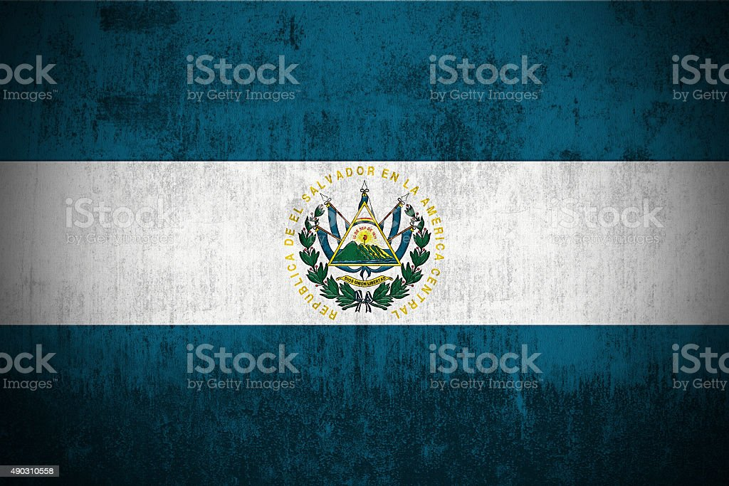 Grunge Flag Of El Salvador stock photo