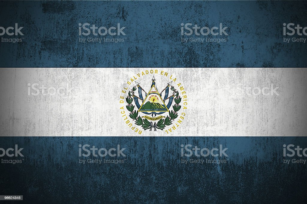 Grunge Flag Of El Salvador royalty-free stock photo