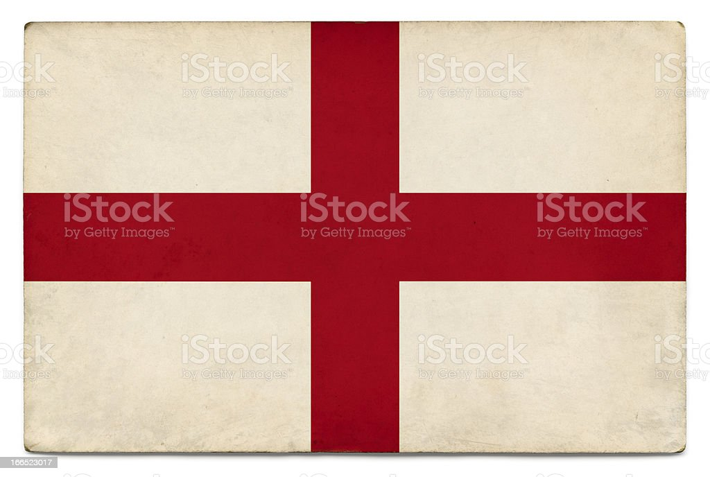 Grunge flag of England on white royalty-free stock photo