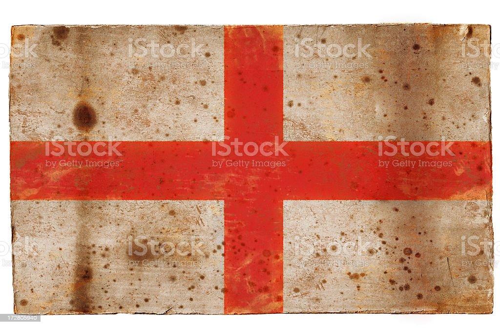 Grunge flag of England royalty-free stock photo