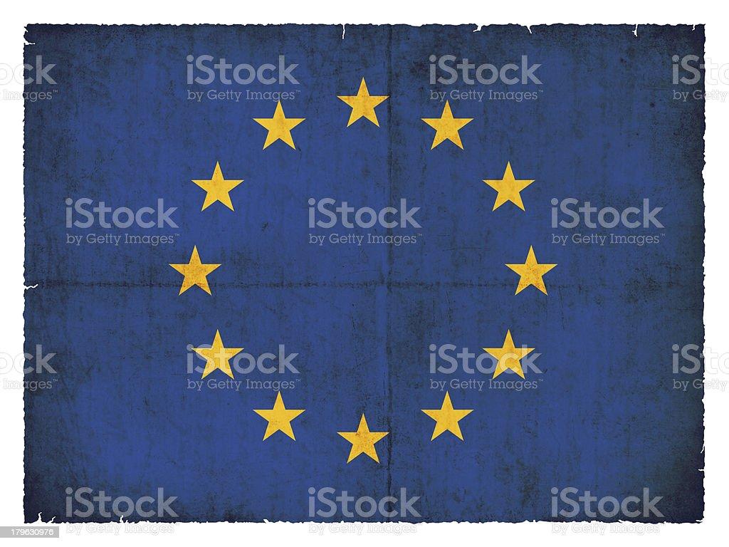 Grunge flag of Europe royalty-free stock photo