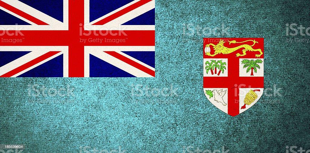 Grunge Flag of Fiji royalty-free stock photo