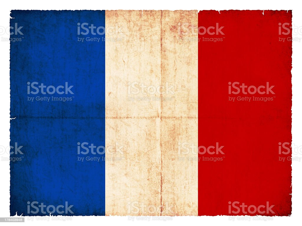 Grunge flag of France royalty-free stock photo
