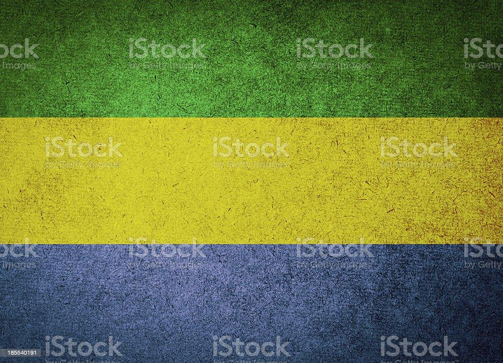 Grunge Flag of Gabon royalty-free stock photo