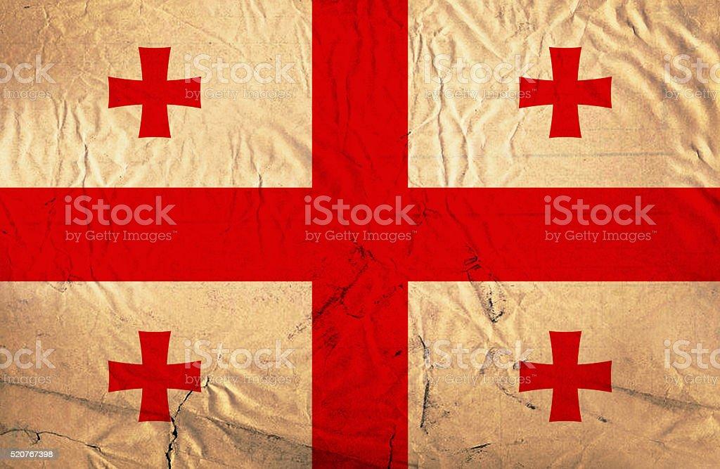 Grunge flag of Georgia stock photo