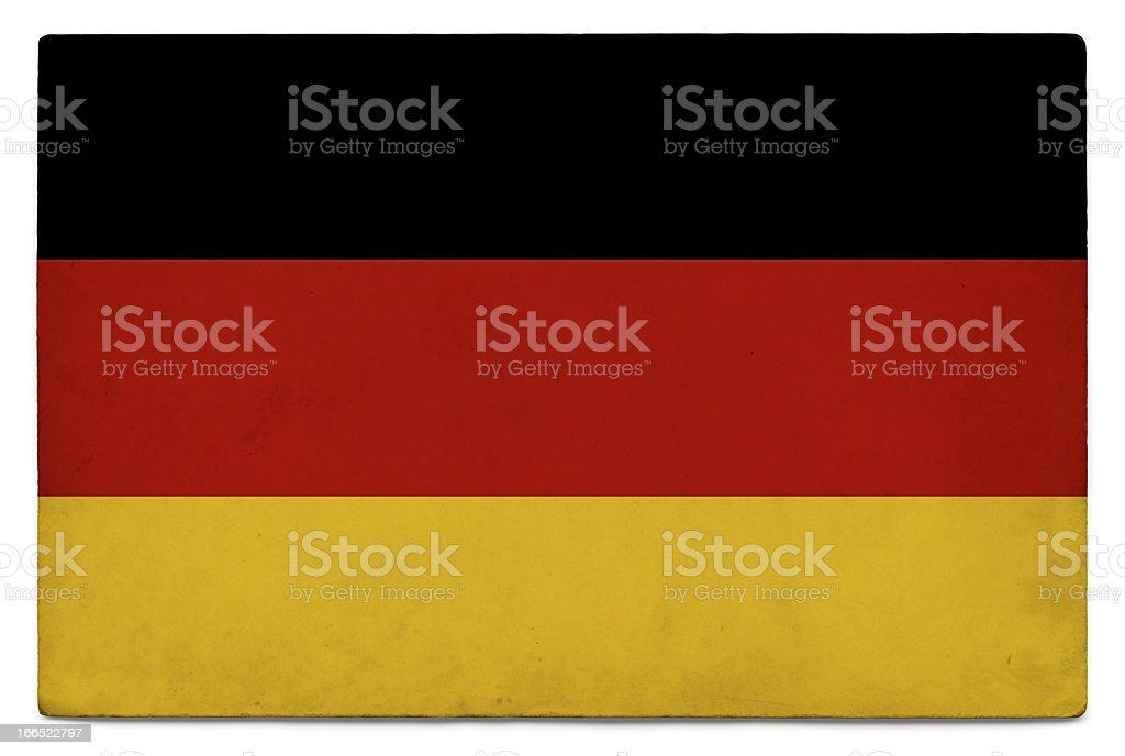 Grunge flag of Germany on white stock photo
