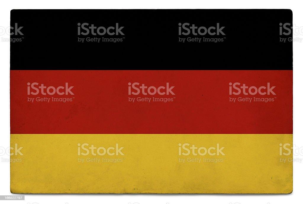 Grunge flag of Germany on white stock photo
