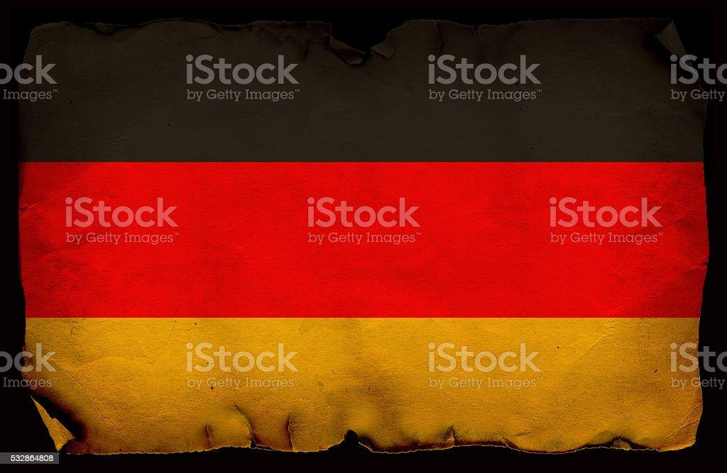 Grunge Flag of Germany stock photo