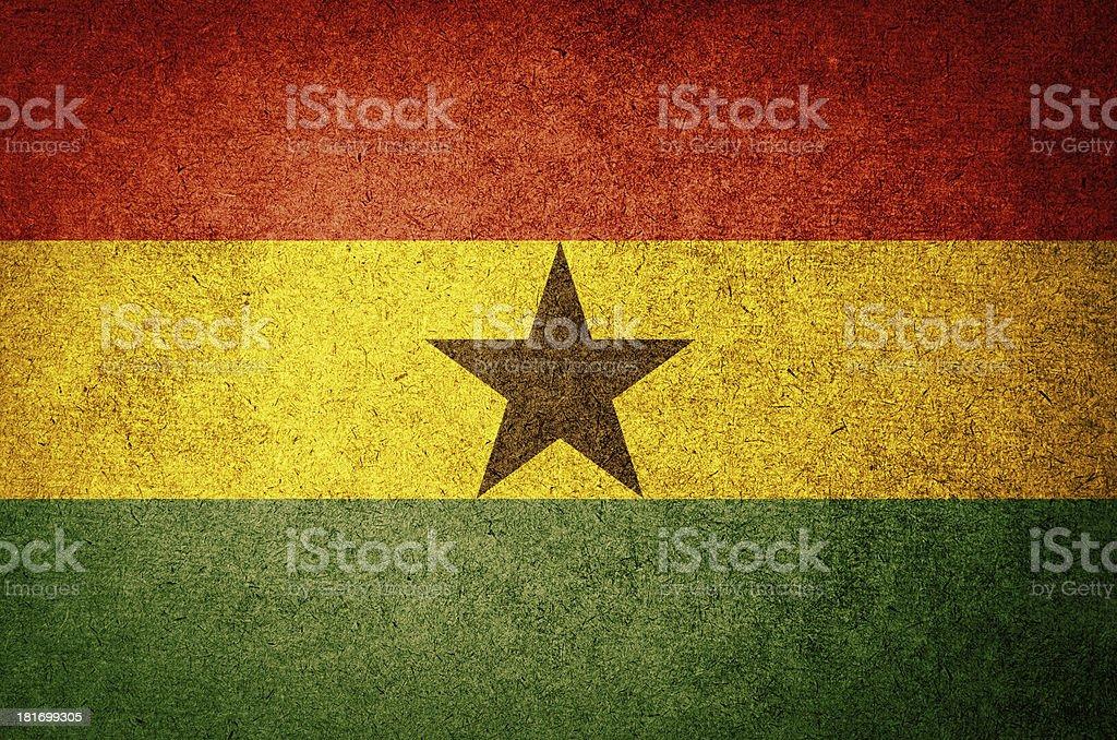 Grunge Flag of Ghana stock photo