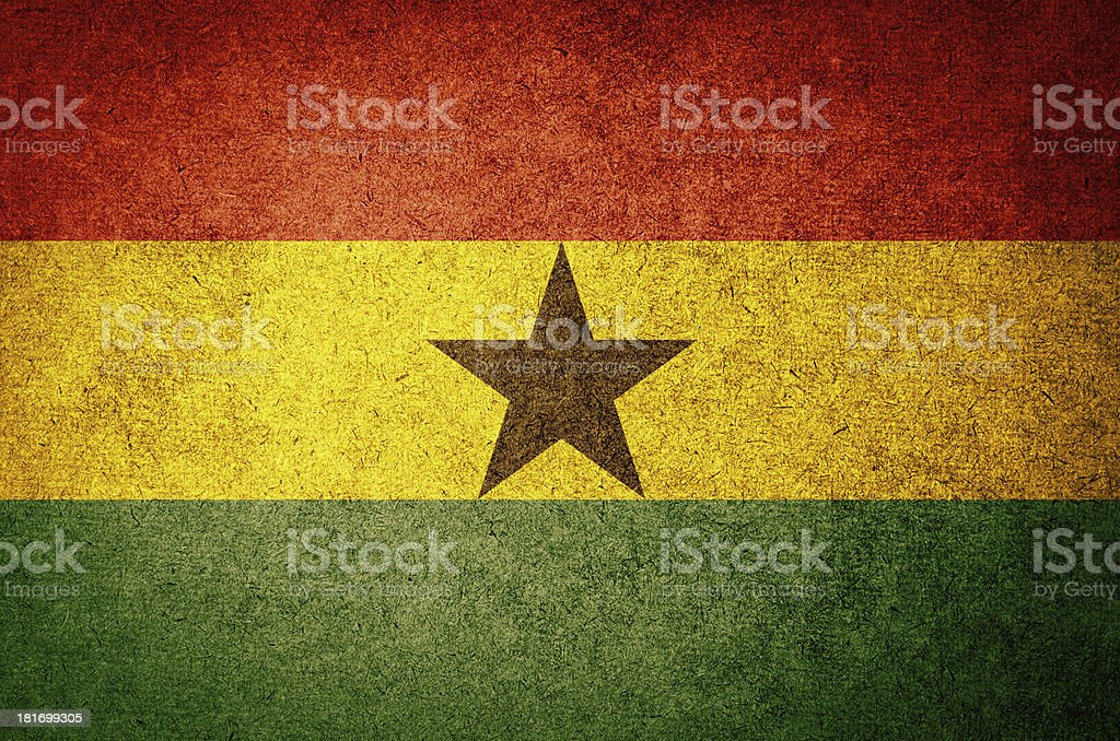 Grunge Flag of Ghana stock photo