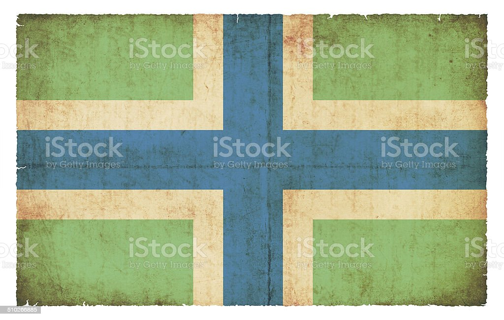 Grunge flag of Gloucestershire (Great Britain) stock photo