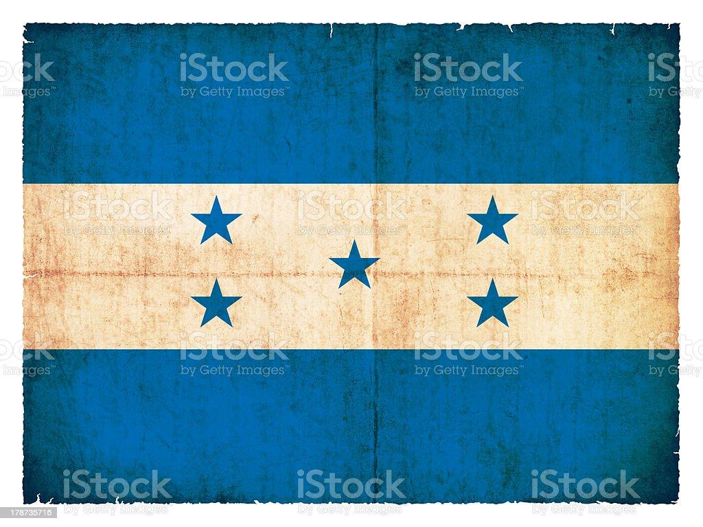 Grunge flag of Honduras stock photo