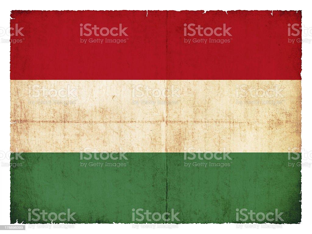 Grunge flag of Hungary royalty-free stock photo