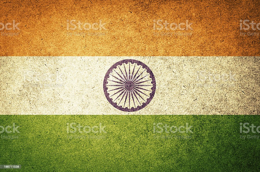 Grunge Flag of India stock photo
