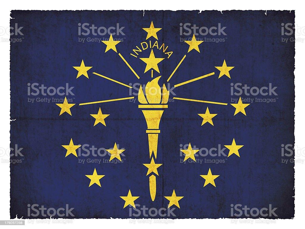 Grunge flag of Indiana (USA) royalty-free stock photo