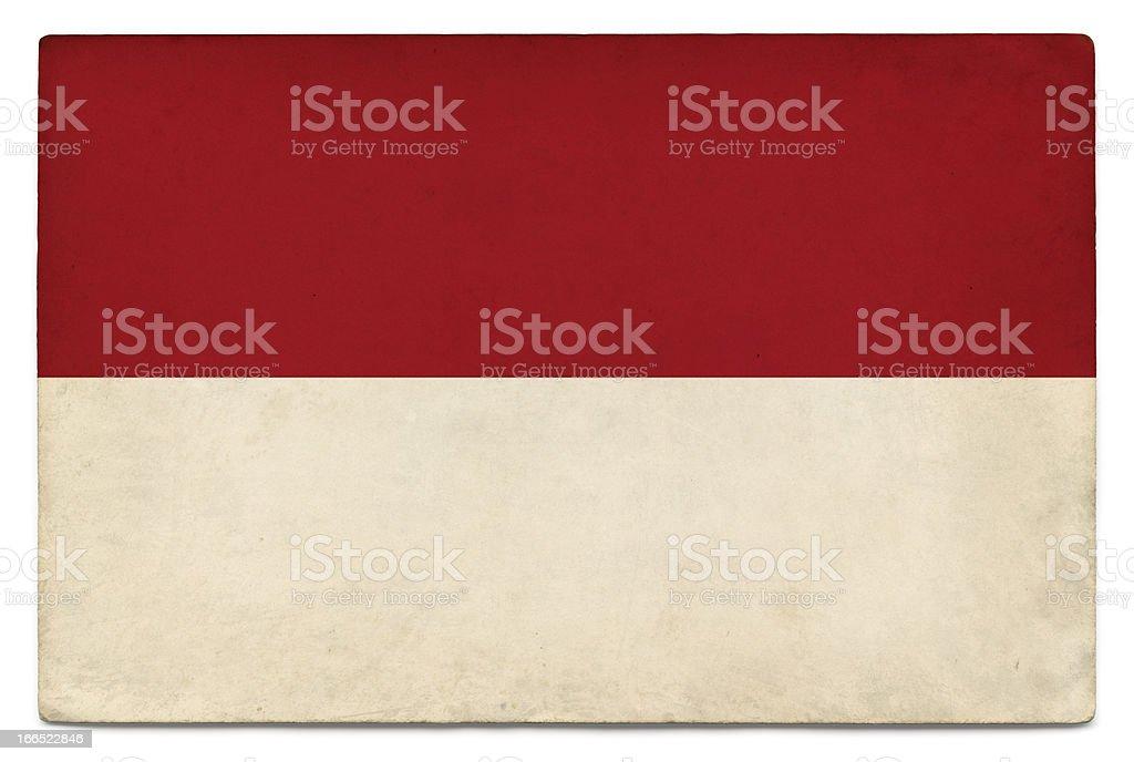 Grunge flag of Indonesia on white stock photo