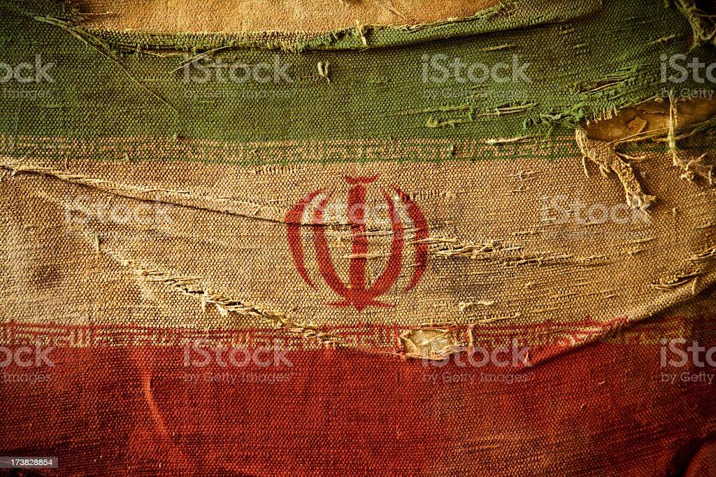 Grunge Flag of Iran stock photo