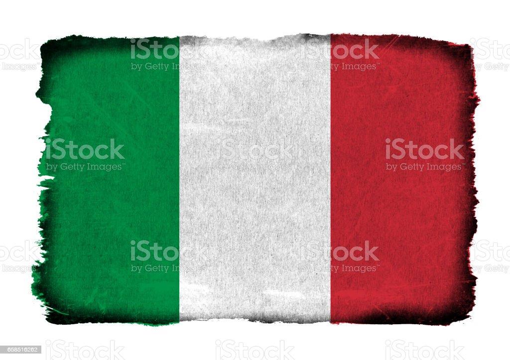 Grunge flag of Italy background isolated stock photo