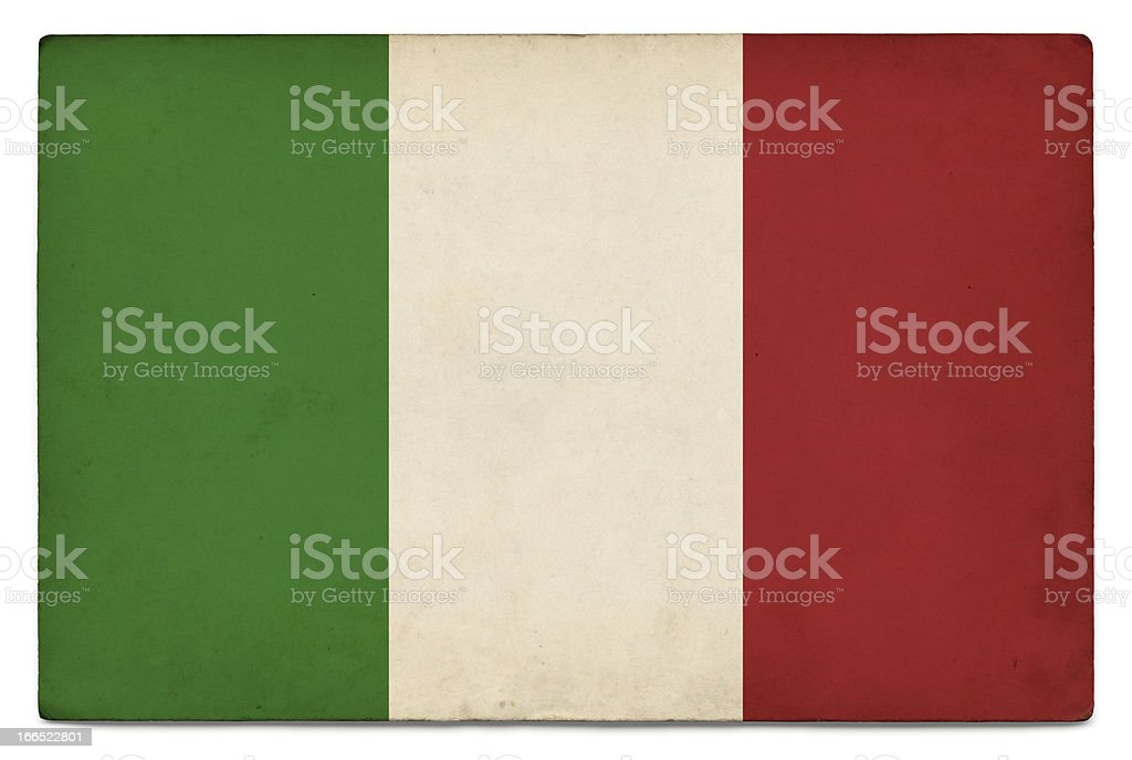 Grunge flag of Italy on white stock photo