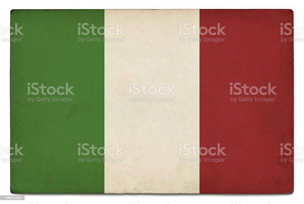 Grunge flag of Italy on white stock photo