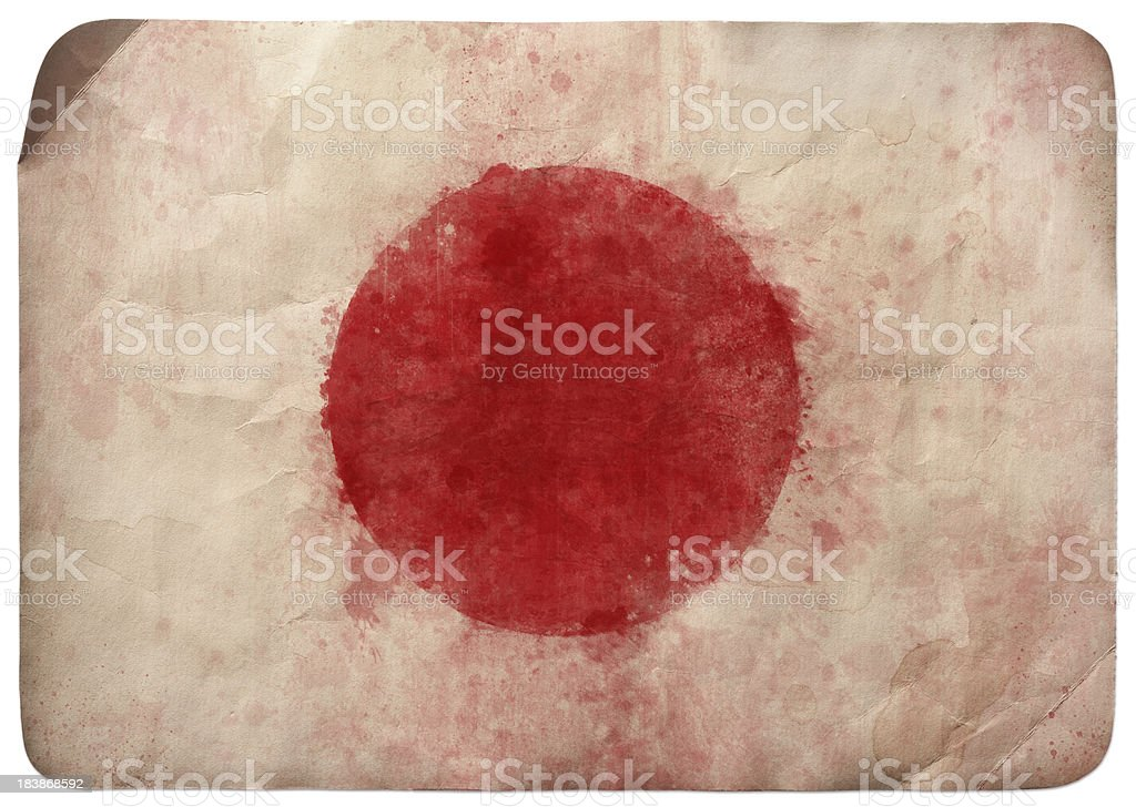Grunge flag of Japan royalty-free stock photo
