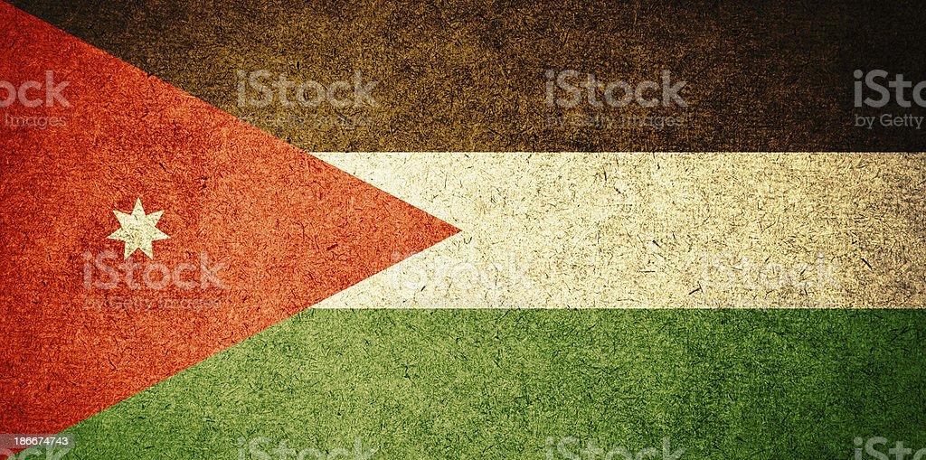 Grunge Flag of Jordan stock photo