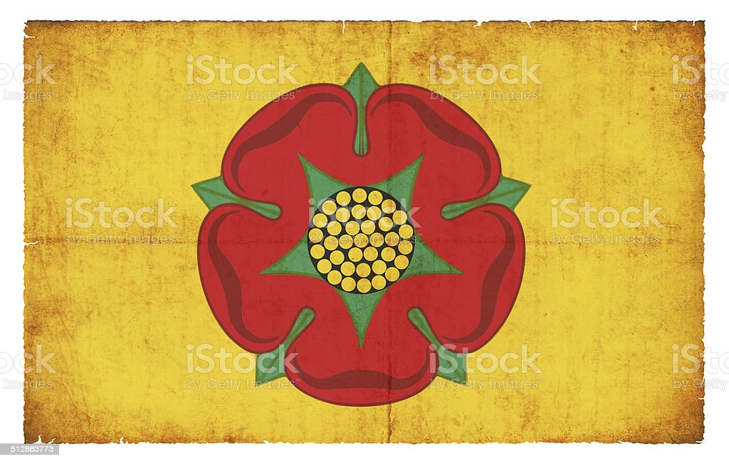 Grunge flag of Lancashire (Great Britain) stock photo