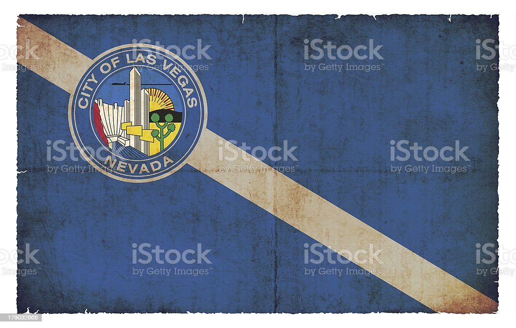 Grunge flag of Las Vegas (USA) royalty-free stock photo