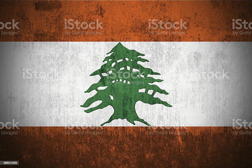 Grunge Flag Of Lebanon royalty-free stock photo