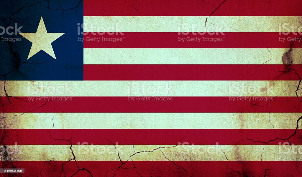 Grunge flag of Liberia stock photo