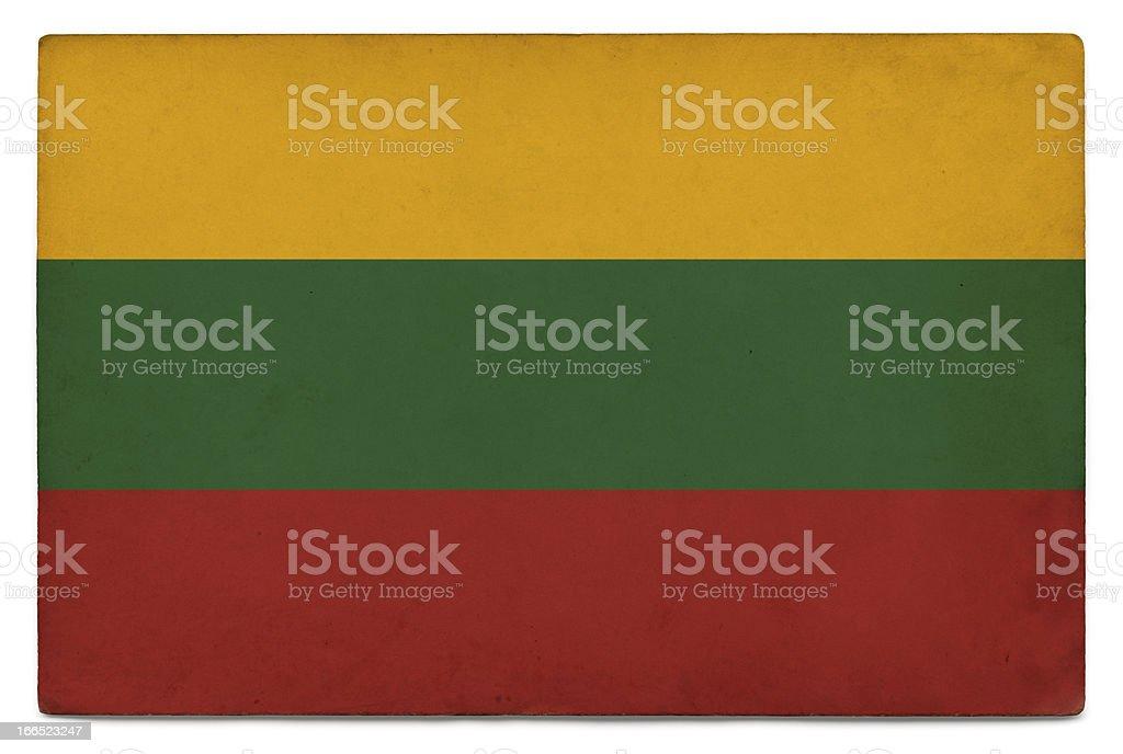 Grunge flag of Lithuania on white stock photo
