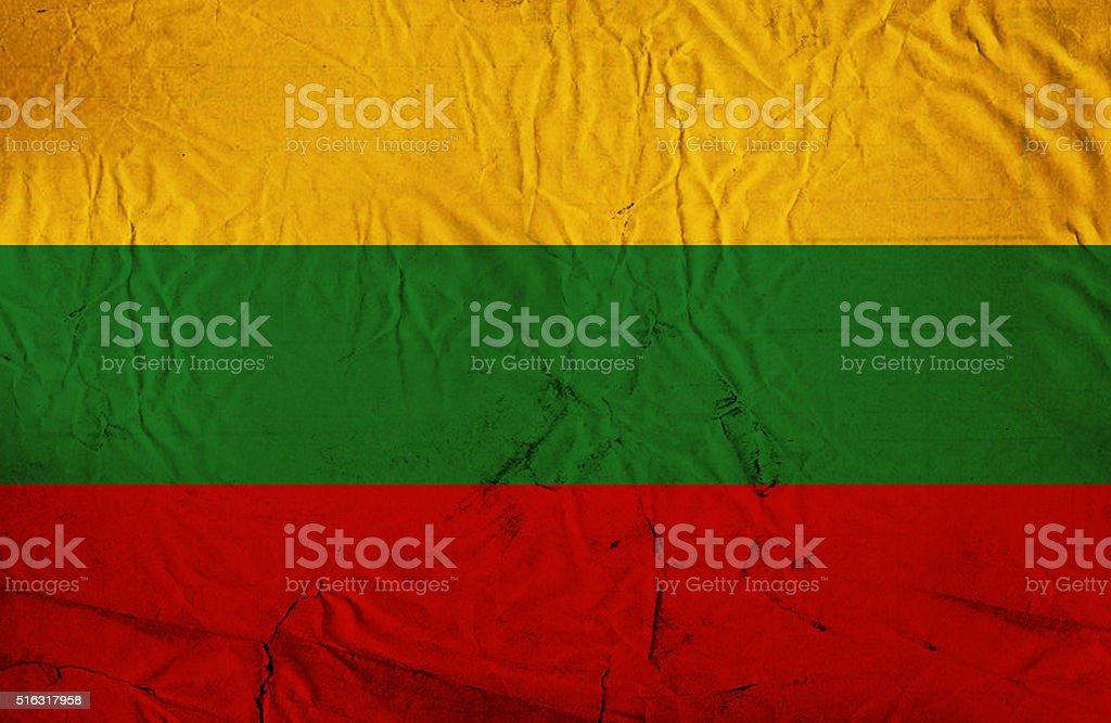 Grunge flag of Lithuania stock photo