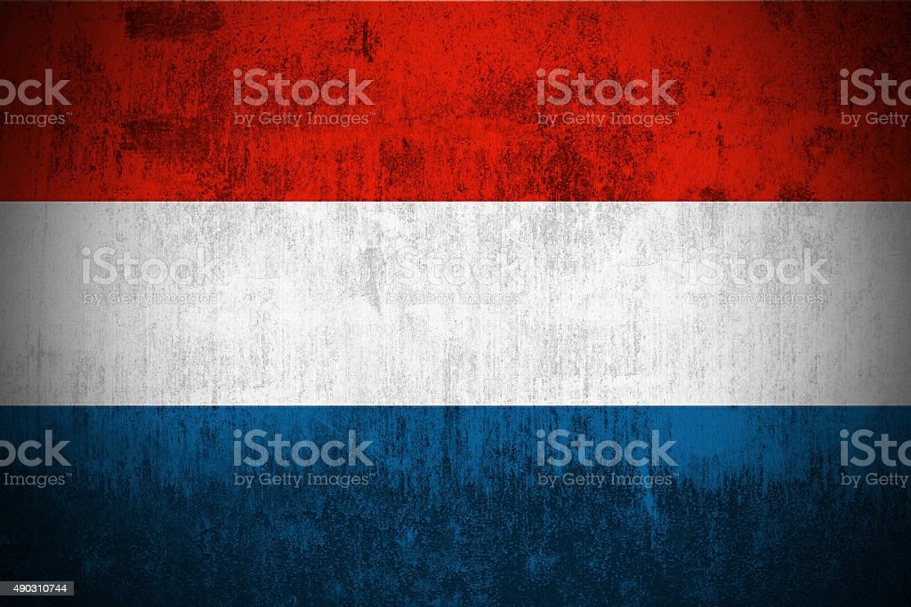 Grunge Flag Of Luxembourg stock photo