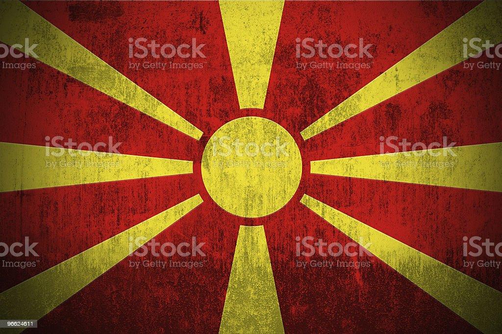 Grunge Flag Of Macedonia stock photo