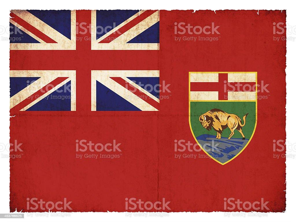 Grunge flag of Manitoba (Canadian province) stock photo
