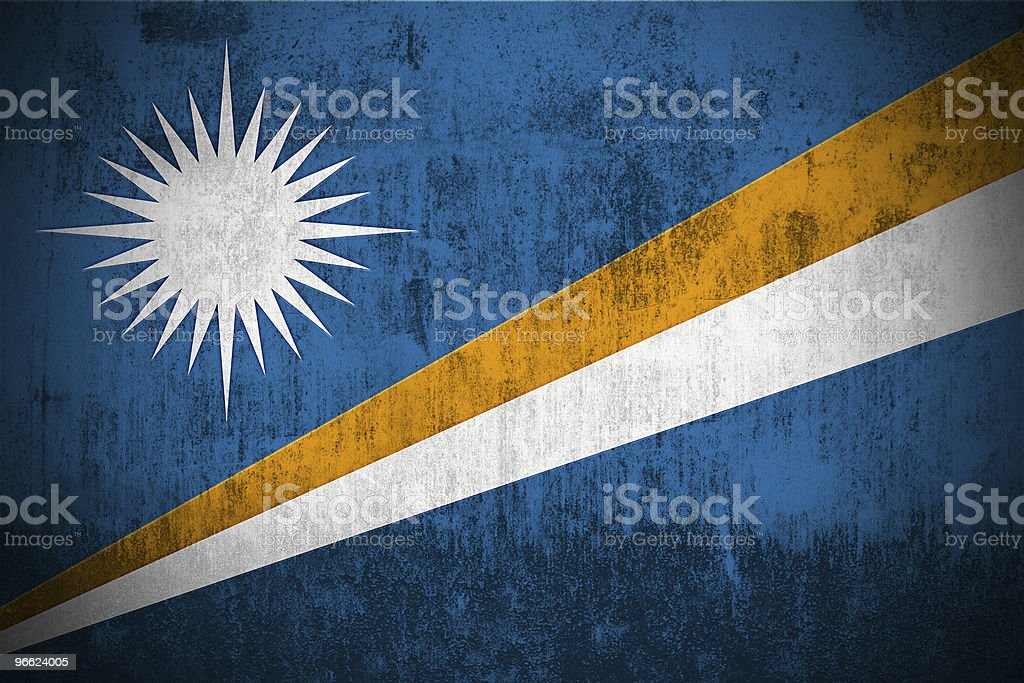 Grunge Flag Of Marshall Islands royalty-free stock photo