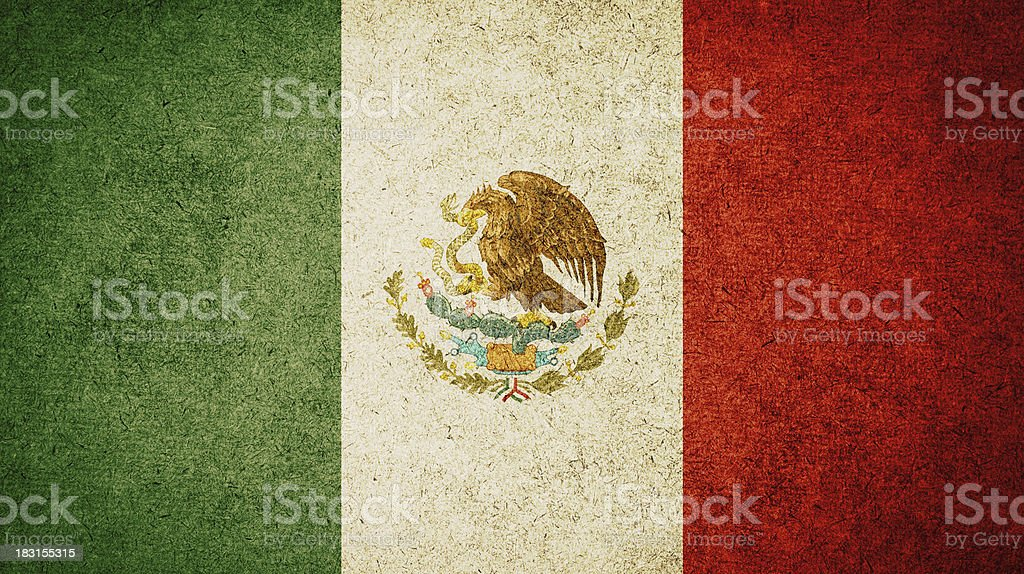 Grunge Flag of Mexico royalty-free stock photo