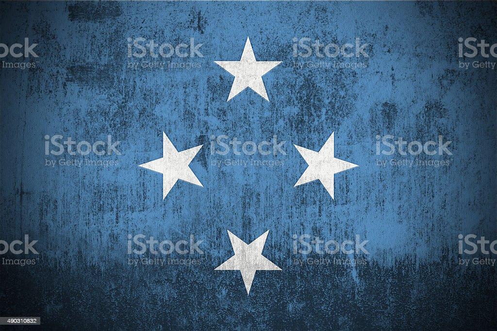 Grunge Flag Of Micronesia stock photo