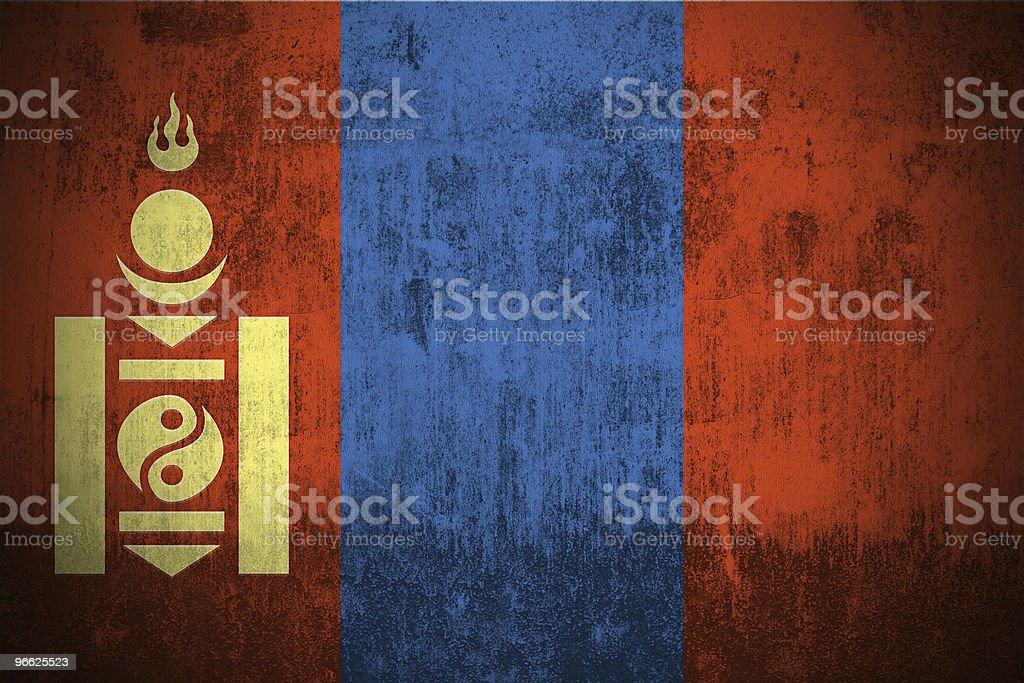 Grunge Flag Of Mongolia royalty-free stock photo